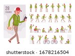 young man wearing a hoodie... | Shutterstock .eps vector #1678216504