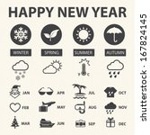 weather icons  | Shutterstock .eps vector #167824145