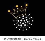 crowned virus on a black...   Shutterstock .eps vector #1678274131