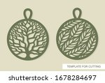 set of pendants with a tree of... | Shutterstock .eps vector #1678284697