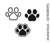 dog or cat footprint vector... | Shutterstock .eps vector #1678288591