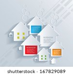 infographic with white houses . | Shutterstock .eps vector #167829089