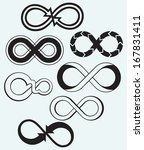 infinity symbol isolated on... | Shutterstock . vector #167831411