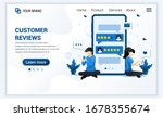customer reviews concept with... | Shutterstock .eps vector #1678355674