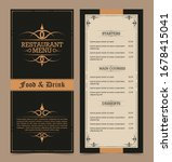 menu layout with ornamental... | Shutterstock .eps vector #1678415041