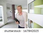 real estate agent presenting... | Shutterstock . vector #167842025