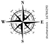 black compass rose   vector | Shutterstock .eps vector #16784290