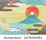 japanese traditional frame with ... | Shutterstock .eps vector #1678434481