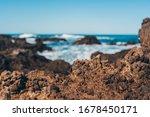 Sea Wave And Rock  Natural...