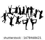 happy jumping people... | Shutterstock .eps vector #1678468621