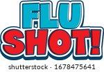 font design for word flu shot... | Shutterstock .eps vector #1678475641