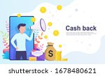 cash back online banking... | Shutterstock .eps vector #1678480621