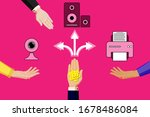 selling and buying digital ... | Shutterstock .eps vector #1678486084