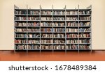 View Of Shelves With Books In...