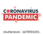 coronavirus pandemic banner on... | Shutterstock .eps vector #1678501651