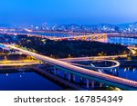 seoul city night | Shutterstock . vector #167854349