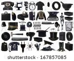 Collage Of Black Objects On...