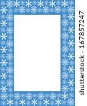 frame with snowflakes. raster... | Shutterstock . vector #167857247