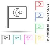 turkey multi color set icon....