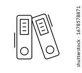 archive icon. simple line ...