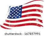 an american grunge flag for you. | Shutterstock .eps vector #167857991