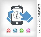 info mobile device   Shutterstock .eps vector #167858921
