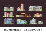 municipal buildings. school...   Shutterstock .eps vector #1678597057