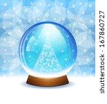 vector snow globe | Shutterstock .eps vector #167860727