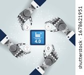 industry 4.0 concept  translate ... | Shutterstock .eps vector #1678621951