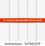 set of ten white seamless... | Shutterstock .eps vector #167862329