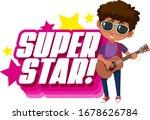 font design for word superstar...   Shutterstock .eps vector #1678626784