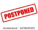 postponed red grunge stamp...   Shutterstock .eps vector #1678633351