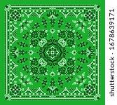 vector ornament paisley bandana ... | Shutterstock .eps vector #1678639171