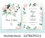 silver sage and blush pink... | Shutterstock .eps vector #1678659211