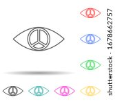 pupil of peace sign multi color ...