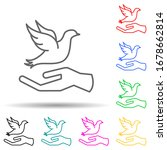 hand and dove multi color set...