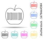 apple  barcode multi color set...