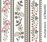 vector set of vintage floral... | Shutterstock .eps vector #167866481