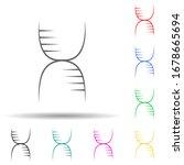 biology multi color set icon....
