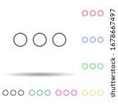 three dots multi color set icon....