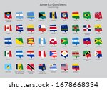 america continent countries... | Shutterstock .eps vector #1678668334