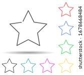 star multi color set icon....