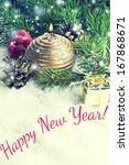 decorative christmas... | Shutterstock . vector #167868671