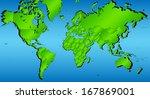 world map in green gradient... | Shutterstock .eps vector #167869001