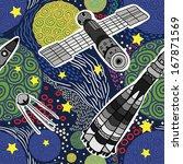 space seamless pattern | Shutterstock .eps vector #167871569
