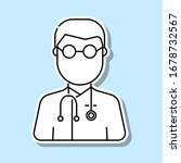 doctor avatar sticker icon....