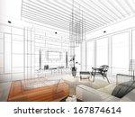Sketch Design Of Living  3dwir...