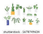 floral flower green plant flat... | Shutterstock .eps vector #1678749634