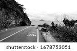 Bw Landscape Of Road Shared...