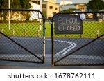 School closed sign with...
